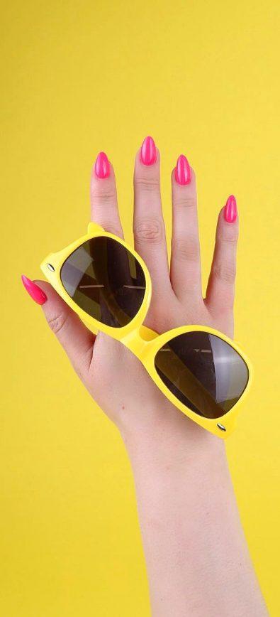 28-striking-to-summer-season-acrylic-coffin-and-polished-nail-designs