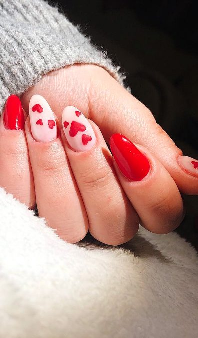 30-acrylic-polish-matte-and-simple-red-nail-designs