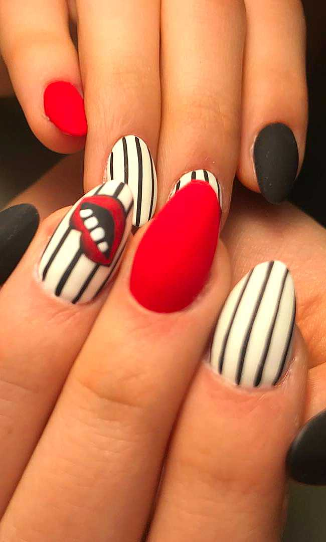24 Matte Red Nails Ideas. Successful Acrylic and Coffin