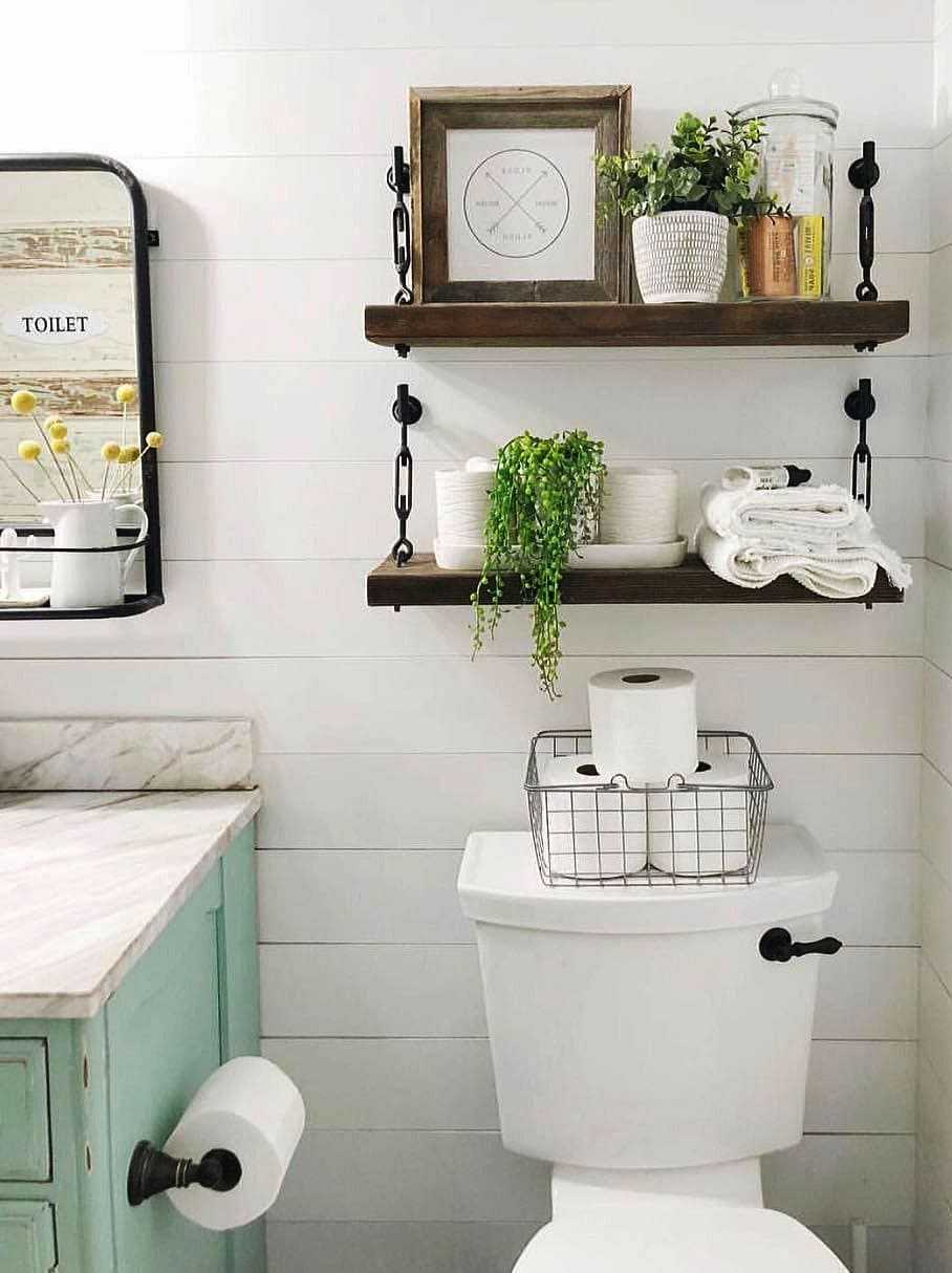 Modern And Rustic Remodel Ideas For The Small Bathroom Of